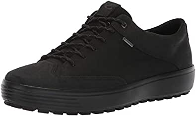 ECCO Men's Soft 7 Tred Low Gore-Tex Sneaker, Black Suede/Black Nubuck, 44 M EU (10-10.5 US)