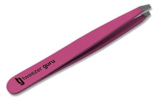 Pink Slant Tweezers  TweezerGuru Professional Stainless Steel Slant Tip Tweezer  The Best Precision Eyebrow Tweezers For Your Daily Beauty Routine