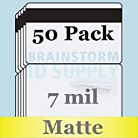 7 Mil Matte Butterfly Pouch Laminates with 1/2 HiCo Magnetic Stripes - 50 Pack