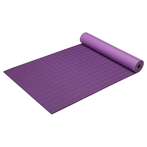 Gaiam Ultra-Sticky Yoga Mat, Purple, 6mm