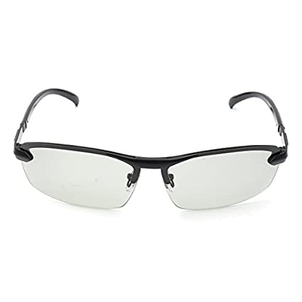 Alamor UV400 Polarizado lentes de transición conducción fotocromáticas gafas de sol hombre gris negro - Gris