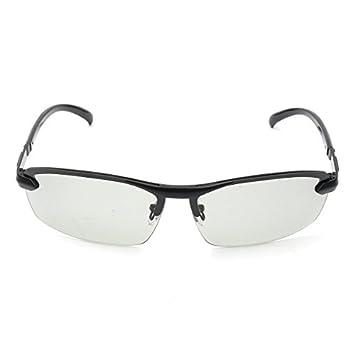 JenNiFer Uv400 Gafas De Sol Fotocromáticas Polarizadas para Hombres Lente De Transición De Conducción Gris Negro - Negro: Amazon.es: Coche y moto