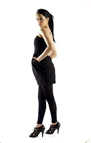 Graduated Women's Compression Stockings Leggings with Control Top - Firm Graduated Support 20-30mmHg, Color Black, Size Small, Absolute Support SKU: A717BL1]()