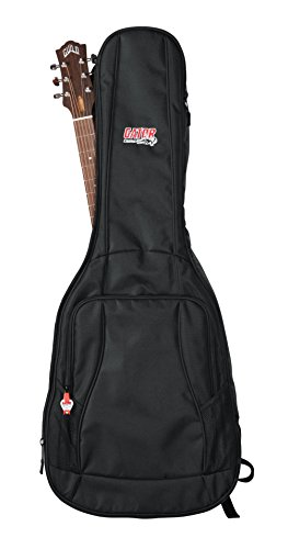 Gator Cases 4G Series Gig Bag For Acoustic Guitars with Adjustable Backpack Straps; Fits Most Dreadnaught Style Acoustic Guitars (GB-4G-ACOUSTIC) ()
