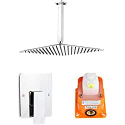 Artbath Shower Trim, Ceiling Mounted 12 inch Rain Shower Head with Valve Shower Set Stainless Steel Chrome Finished
