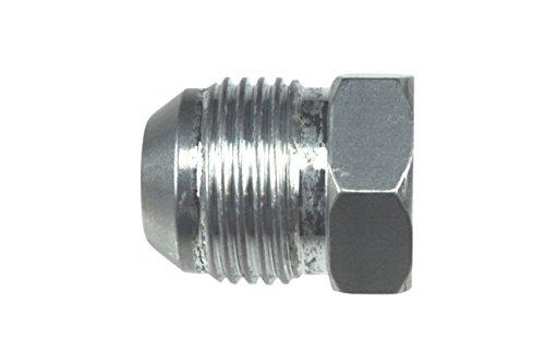 -6AN Flare Plug Male Nut 6 AN Block Off Cap Fitting Aluminum ()