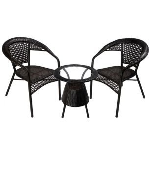 Marvelous Shri Sai Outdoor Furniture 2 Chair And 1 Table Set Amazon Home Remodeling Inspirations Cosmcuboardxyz