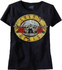 Xxl Band Shirts (Bravado  Guns N Roses Distressed Bullet Mens Lightweight Tee)