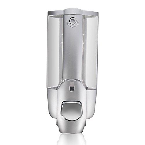 Little World Manual Hand Soap Dispenser Wall Mount Liquid Shampoo Shower Gel Dispenser Hand Cleanser-12 oz Manually Dispenser,Perfect for Office-Garage-Bathroom and Kitchen (1-Chamber)
