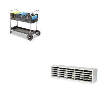 KITSAF5239BLSAF7751GR - Value Kit - Safco Scoot Mail Cart (SAF5239BL) and Safco E-Z Sort Steel Mail Sorter Module (SAF7751GR) by Safco