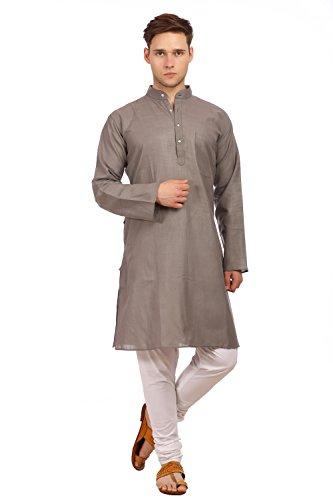WINTAGE Men's Cotton Silk Festive and Casual Grey Kurta Pyjama by WINTAGE
