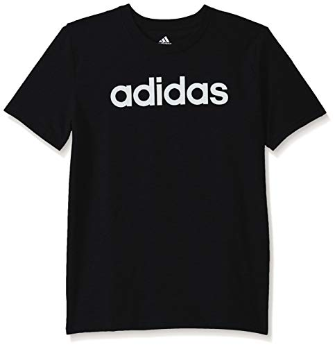 adidas Boy's Big Short Sleeve Cotton Script Logo T-Shirt 1