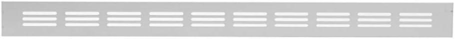 Grille da/ération en aluminium Argent/é 40 x 500 mm