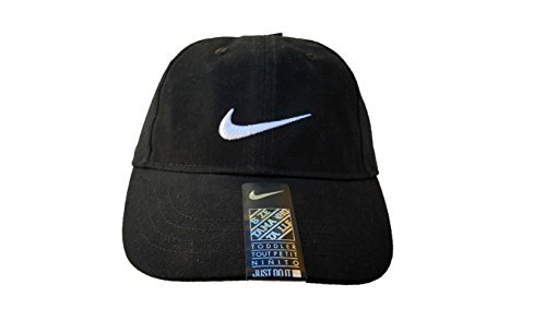 Logo Embroidered Baseball Cap - Nike Youth Embroidered Nike Swoosh Logo Baseball Cap SZ 4/7 (Black)