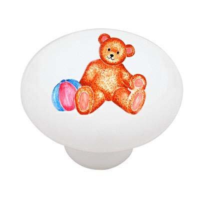 Teddy Bear with Ball Ceramic Drawer -