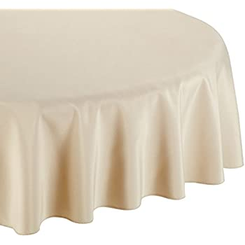 Captivating LinenTablecloth 90 Inch Round Polyester Tablecloth Beige