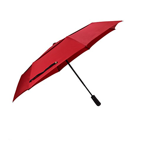 (Designed in UK) Balios Umbrella Handmade Real Wood Handle (optional) Double Canopy Windproof Fiberglass Auto Open  Close Folding -Premium 300T Fines…