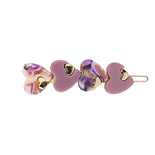 Toaimy 1PC Simple Acetate Plate Heart Hair Clips for Women Girls,Multi-Style Hairpin Jewelry Headwear Accessories