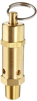"Kingston 112CSS Series Brass ASME-Code Safety Valve, 165 psi Set Pressure, 1/4"" NPT Male"