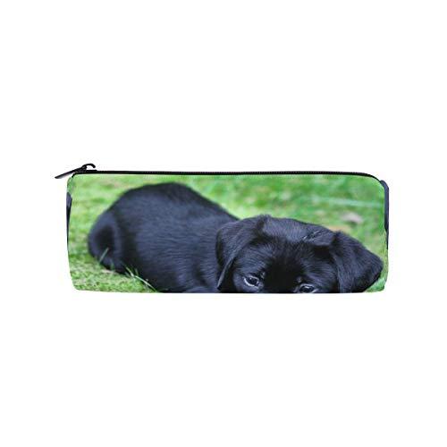 (Cute Labrador Retriever Pencil Bag Pen Case Stationery Pouch Coin Purse with Zipper for School Work Office)