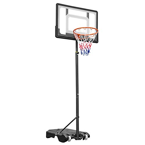 Basketball Stand Height Adjustable w/Wheels 165-210cm (65'' to 83'') | Outdoor Basketball Hoop Stand Toy Set for Kids Toddler by Basketball Stand (Image #9)