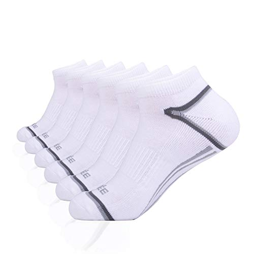 - JOYNÉE Mens Low Cut Socks 6 Pack Athletic Performance Cushion for Running and Workout,White,Sock Size:10-13