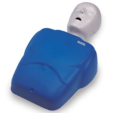 NASCO LF06001U CPR Prompt Adult/Child Manikin with 10 Lung Bags and Tool, Blue NASLF06001U