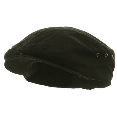 Washed Canvas Ivy Cap - Black (one size)