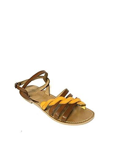 Treccia In Giallo Vera Tacco Artigianali Vintage Basso Sandali Mainapps Pelle Shoes Zeta pPqTx8w