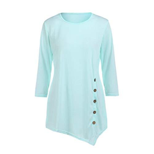 Chemisier Chiffon Rond de Haut T Soie lgant Manche Shirt Col Longue Mousseline Simple Vetement Rose en rr4wCqnd