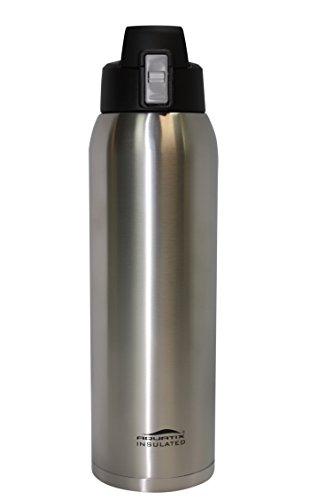 Aquatix Insulated FlipTop Ultimate Sport Bottle 32 ounce Pure Stainless Steel