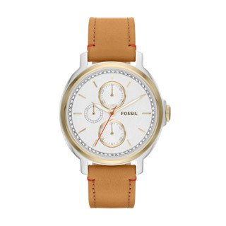 Fossil Womens Leather Dress Watch (Fossil Women's ES3523 Chelsey Two-Tone Stainless Steel Watch with Leather)