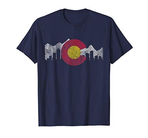Colorado Flag T-Shirt Skyline ()