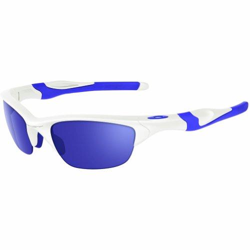 Oakley Sunglasses Women (Oakley Men's Non-Polarized Half Jacket 2.0Oval Sunglasses,Pearl Frame/Violet Iridium Lens, 62 mm)