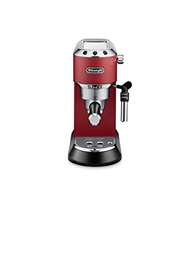DeLonghi America, Inc EC685R Dedica Deluxe 15-Bar Pump Espresso Machine, Red by DeLonghi