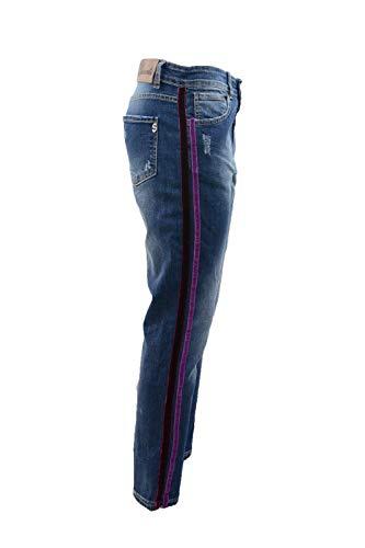 Di Velluto Suerte Con Jeans Bande Boyfriend Sw0qI