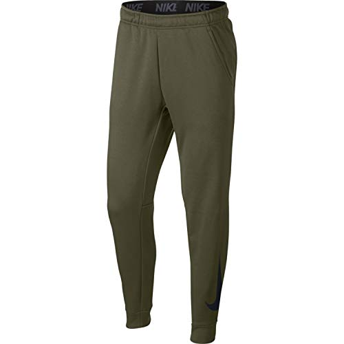 NIKE Mens Tapered Therma Training Sweatpants Olive Canvas/Black 932257-395 Size Large ()