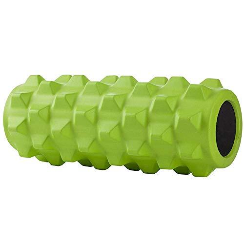 NDY Foam Roller Deep Tissue Muscle Massage Solid Wolf Hammer Sport Yoga Column Massage Relax Muscle Roll Massage Balance Bar,Green