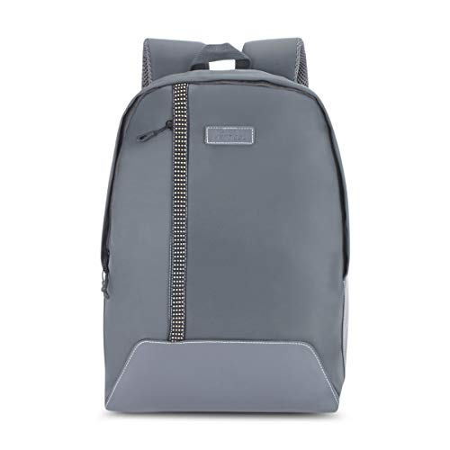 The Vertical Graphite Polyester 14 Ltrs Grey School Backpack  8903496093551