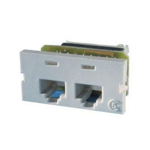 (Ortronics Series II 2-Port Cat5 Jack Module 110 8P8C T568B, Fog White OR-60950009)