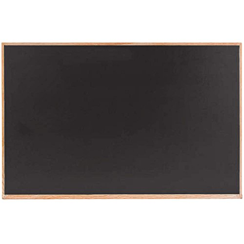 TableTop King OC3648B 36'' x 48'' Black Solid Oak Wood Frame Slate Composition Chalkboard by TableTop King
