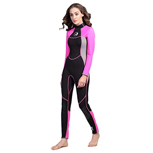 3023920d75 Iusun Women 's One Piece Wetsuit Long Sleeve Thin 3MM Neoprene Full Body  Cover Swimwear Swim Suit Super Stretch Sunblock UV Protection- Perfect for  ...