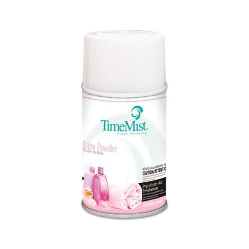 (TimeMist 332512TMCT 5.3 oz. Metered Baby Powder Fragrance Dispenser Refills (12-Pack) )