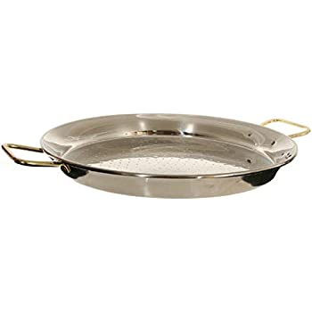 Garcima 13-inch Stainless Steel Paella Pan, 32cm