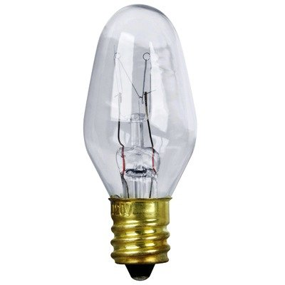 Triangle Bulbs T20421-25 (25 pack) - 7C7/CL, 7 Watt, C7 Night Light, 120/ 130 Volt, Clear, E12 Candelabra Base, Incandescent Light Bulb, 25 Pack