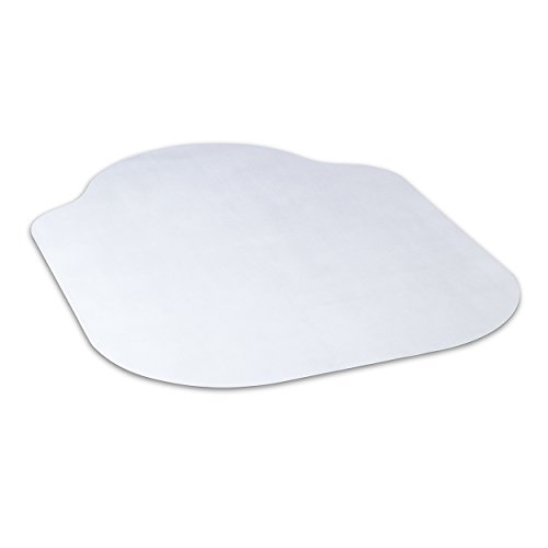 Evolve Modern Shape 42''x 56'' Clear Office Chair Mat With Lip For Hard Floor From Dimex, Phthalate Free (15D50630) by Evolve