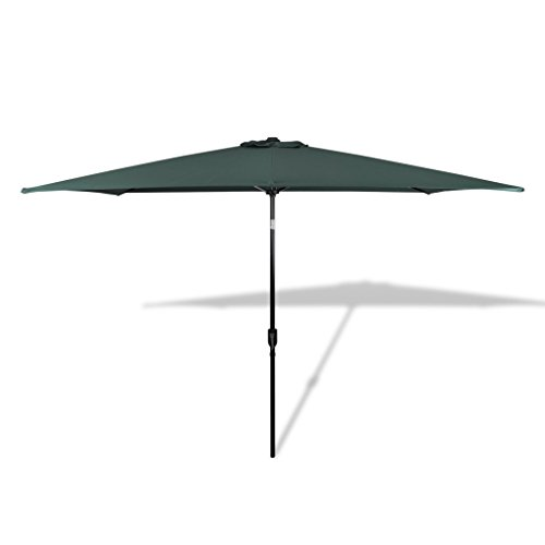 Cheap Festnight 10 Feet Offset Patio Cantilever Umbrella UV-proof Steel Frame Garden Parasol Outdoor Table Market Hanging Umbrellas and Cranks with Cross Base (Green) (10'x6.6′-Rectangular)