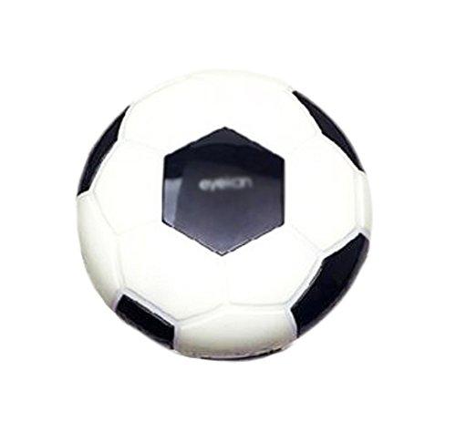 Halloween Black Contact Lenses (Creative Soccer Contact Lens Cases For Men Or Women-Black)
