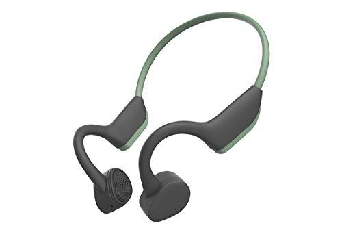 (AOSHE Bone Conduction Headphones, Trekz Air Open-Ear Wireless Bone Conduction Headphones,Titanium Alloy for Comfortable wear,Blackgreen)