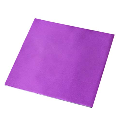 Tpingfe Color Food Tin Foil Joyful DIY Baking Chocolate Aluminum Candy Foil, 100pcs/1pack (Purple)